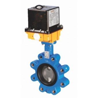 Дисковый затвор LUG с уплотнением EPDM (EPT) с электроприводом