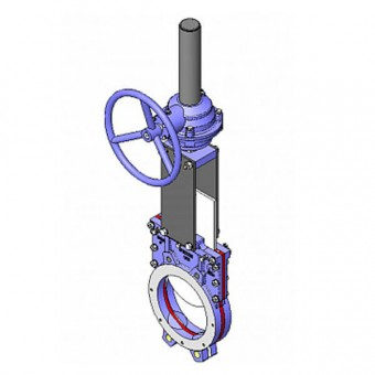 Задвижка шиберная CMO DN400 PN6 - UB-01-0400-PN6-R-E