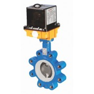 Дисковый затвор LUG с уплотнением PTFE с электроприводом