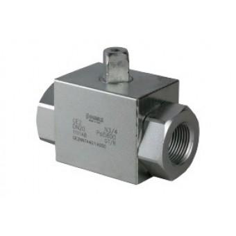 Шаровый кран, 2-ходовой, углерод. сталь, Dn8-50, Pn350-400 BSP/NPT/приварка встык/приварка внахлест
